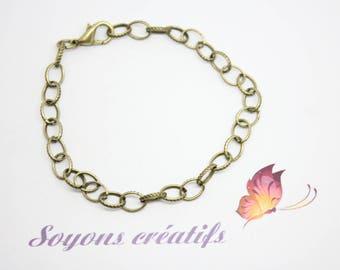 12 bracelets mesh Bronze clasp 20 cm - jewelry-SC14249 Creations