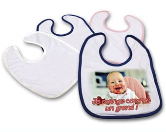 Personalized with a photo of baby bib