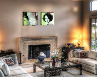 Decorative wall canvas Duo hollywood 55 x 55