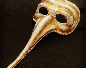 Paper mache mask, commedia dell arte zanni mask