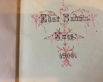 Album of Water Colour Paintings - Quotes and Poems Etc. belonging to Edna Baldwin 1908