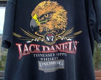 Jack Daniel's Tennessee Sippin Whiskey Lynchburg RaRe vintage t-shirt 100% cotton sz.XL