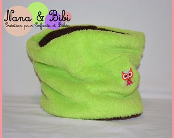 SNOOD - Choker child - Brown and green reversible