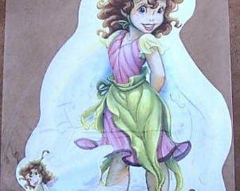STICKERS for furniture DECORATION child * fairy B * 35 cm x 21 cm
