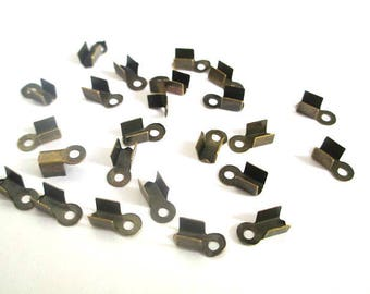 Lot of 250 ends for cords ☆ / brass / 6 x 3 x 2.3 mm☆