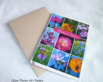 Double pink greetings card