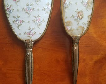 Vintage mirror and brush