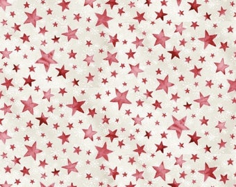 Christmas patchwork fabric 103/63902 red stars