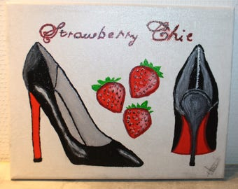 shoes one stroke painting