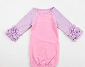 Baby girl Ruffle Gown Coming Home Outfit