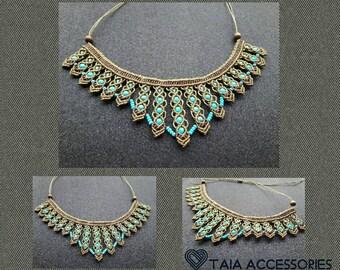 Beautiful Gaia Macrame Necklace