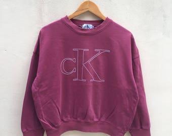 Calvin Klien sweatshirt pullover jumper maroon big logo