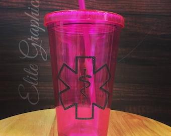 Pink Acrylic Tumbler