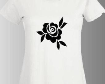 "TATTOO STYLE stunning printed t-shirt ""ROSE"""