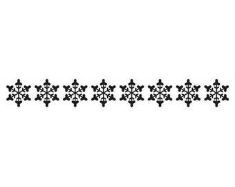 Workbook embossing border snowflake 15 x 2 cm_BOF007
