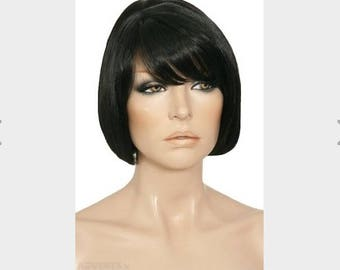 30% Human Hair Short Length Black Wig, Brand New still tag price RRP USD 249, Free Worldwide Shipping with Tracking Number