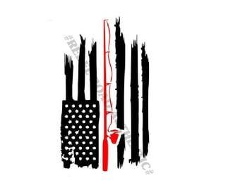 American Patriot Fishing Vinyl Decal