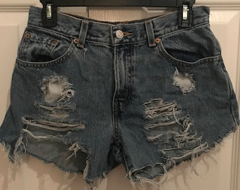 Levi Denim Cutoff Shorts