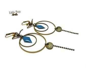 Vintage sequin boho swallow earrings