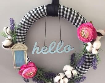 Hello Wreath, Summer Wreath, Charming Wreath