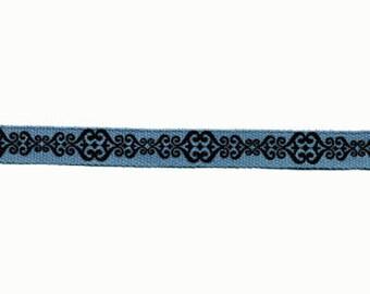 Ribbon 10 mm steel blue fresco