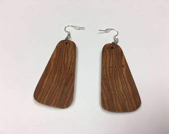 Earrings Hand Made With Canarywood