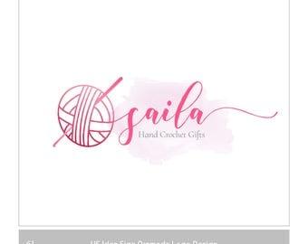 Premade Logo Crochet, Customizable logo,  ball and string logo, Yarn of balls emblem, Knitting Shop Logo, Yarn Logo , Crochet Logo Design