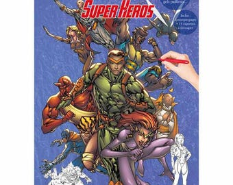 Super Hero themed coloring book