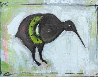 Two-way Kiwi acrylic painting