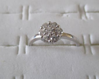Silver 925 with a white zirconium ring