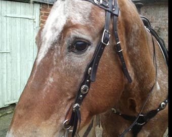 Silver western horse tack set