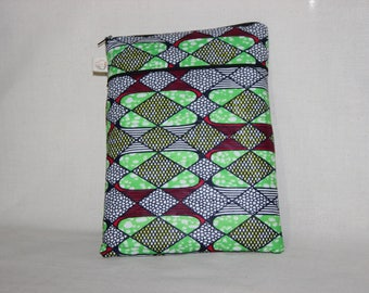 Fabric/African wax - GUZMANIA pocket for Tablet