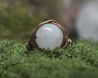 Jasper ring in your size in Wire Wrapping