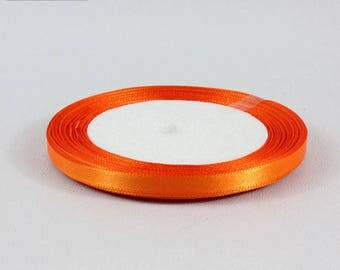 5 Metters orange satin ribbon 6 mm