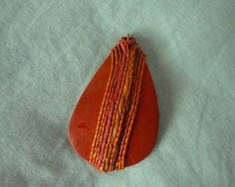 Wood pendant Brown 6cm x 4 cm