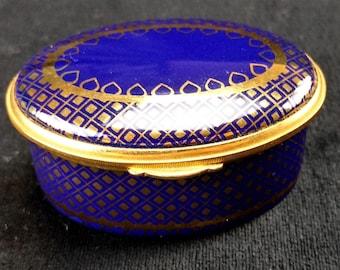 English Enamel Trinket Box by Toye, Kenning & Spencer