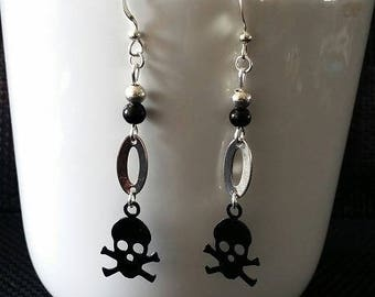 "Earrings ""Black dead"" 5 cm"