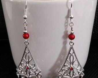 """""""Red Chandelier"""" earrings 7 cm"""