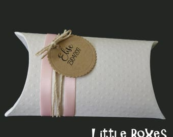 Pink and white sweets carton box