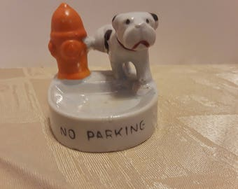 Fire Hydrant Dog Ring Dish, Vintage Made in Japan