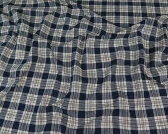Italian Blue/White Plaid Fabric