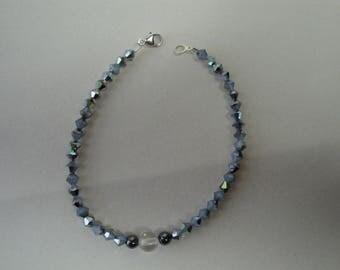 Swarovski bicones beaded bracelet