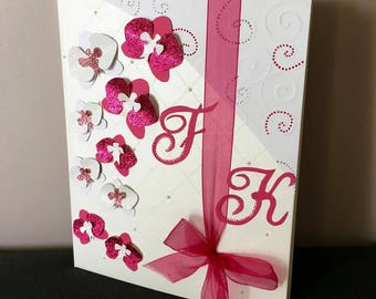 Book-gold theme Orchid (pink, fuchsia and white)
