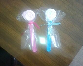 Wash Cloth Lollipops baby washcloth lollipops baby gift, baby girl baby boy