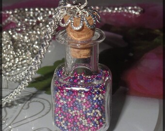 Magic of Christmas glass necklace vial necklace
