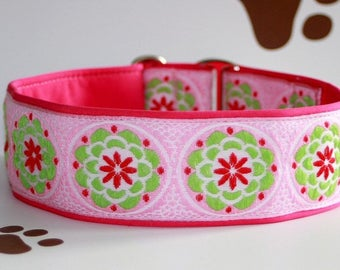 Dog collar #Retro style candies# Jacquard ribbon in unique colourful style for Pet Jewellery and accessories