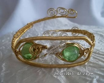 Natural copper Golden Celtic bracelet