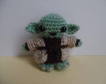 7 cm Yoda star wars crochet Amigurumi