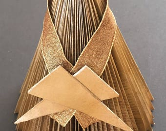 Christmas decoration | Folded book | Recycled book | Artwork