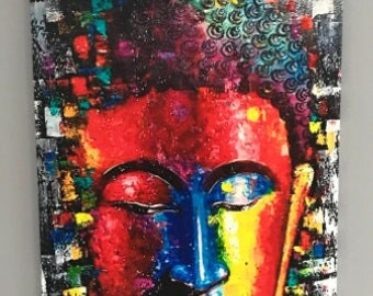 Budha, Colors, Popart, art, Abstract,